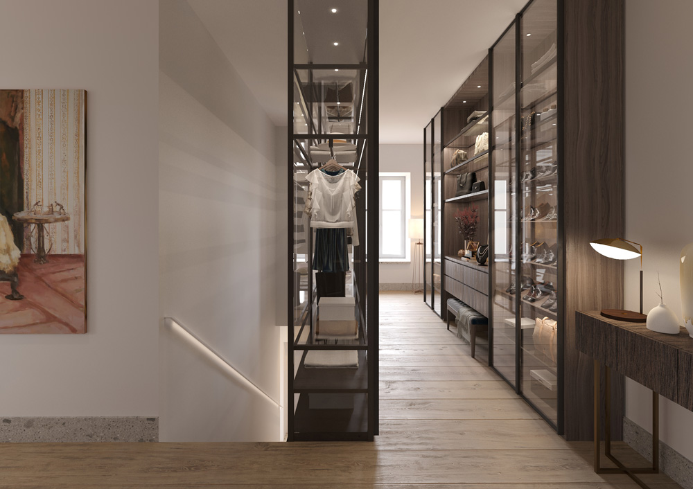 View walk-in closet